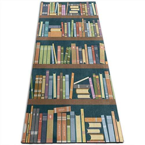 NA Boekenplank in De Bibliotheek Boekworm Yoga Mat-All-Purpose Hoge Dichtheid Antislip Oefening Unieke Yoga Matten voor Alle soorten Yoga, Pilates & Vloer Oefeningen (70