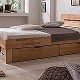 Eternity-Möbel Futonbett Schlafzimmerbett - SKARA - Kernbuche Buche geölt Bett inkl. 2 x Bettkasten Liegefläche 180 x 200 cm - 4