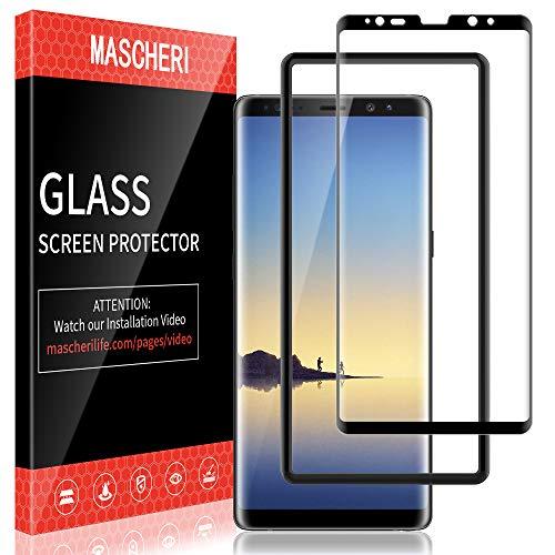 MASCHERI Schutzfolie Für Samsung Galaxy Note 8 Panzerglas, [Ausgestattet mit einem Einbaurahmen] Displayschutz Displayschutzfolie Glas Panzerglasfolie Für Samsung Note 8