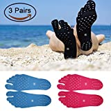 Beach Foot Pads for Unisex Barefoot Lover, Stick on Soles, Invisible Shoes Stick on Foot Pads, Foot Stickers, Nakefit Stick on Soles With Anti-Slip and Waterproof, 3 Pairs/Pack