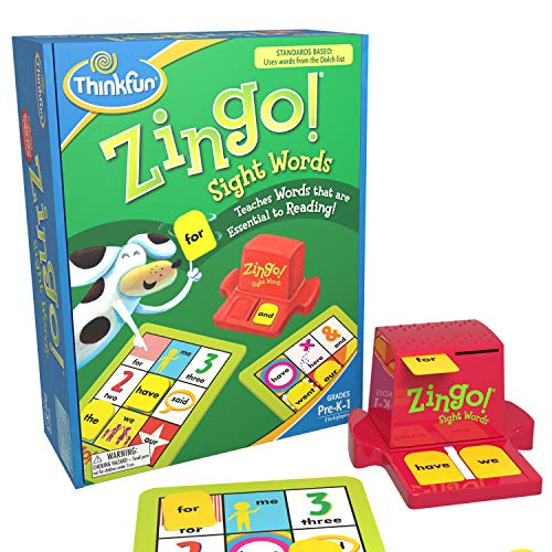 ThinkFun Zingo Sight Words Award Winning Early Reading Game for Pre-K to 2nd Grade - Toy of the Year...