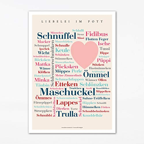Poster Ruhrpott Kosewörter (50x70 cm)