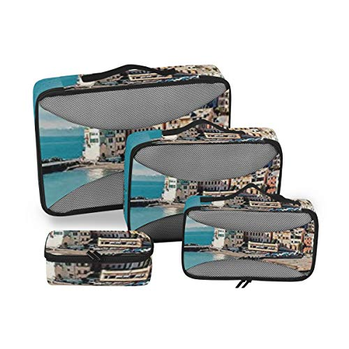 Farm House Decor 4pcs Toiletry Bag Travel Cosmetic Organizer,Hanging Toiletry Kit for Women and Men