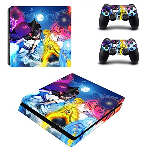 TSWEET Anime PS4 Pegatina de Piel Delgada para Consola Playstation 4 y 2 Controladores PS4 Pegatina de Piel Delgada de Vinilo