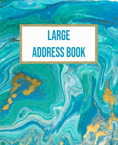 Turquoise Acrylic Marble Large Address Book: Keeping Track Birthday ,Telephone Number ,Email and Address Book With Alphabetical Tabs & Notes For ... Ceramic Tiles Nest Grey and Marble, Band 6)