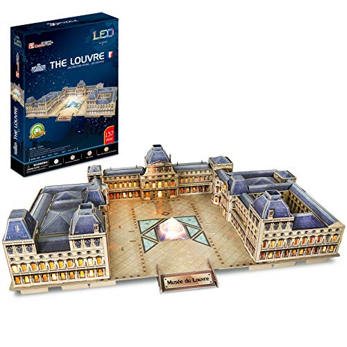CubicFun l517h–3D Puzzle Museum des Louvre mit LED–Paris–Frankreich