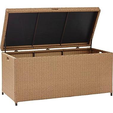 Crosley Furniture Palm Harbor Outdoor Wicker Storage Bin - Light Brown