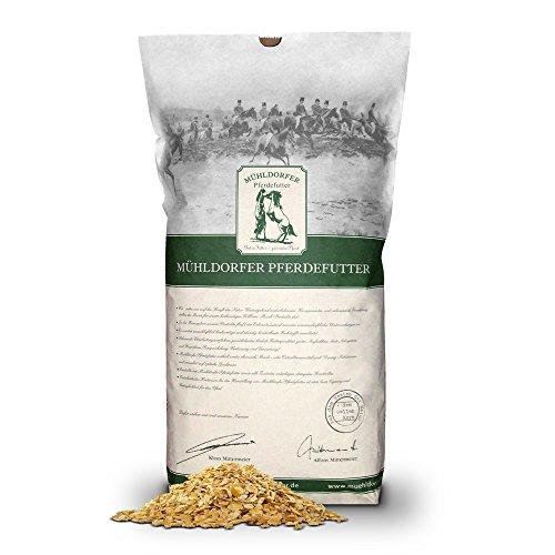 Mühldorfer Bio-Maisflocken, 15 kg, hervorragende Verträglichkeit, ideal für ältere oder schwerfuttrige Pferde, Bio-Pferdefutter