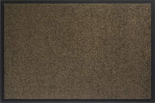ID Mat Tapis Paillasson, Fibres Nylon sur Semelle PVC caoutchouté, Marron, 40 x 60 cm