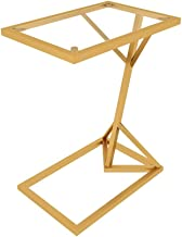 C-J-Xin Glass Coffee Table, Large Area Multifunctional Side Table for Offices Living Room Hotel Wrought Iron Tea Table Liv...