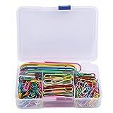 Hilitand 250pcs / box Color de la mezcla Clip de papel Clip de metal grande Multifunción, Archivos del organizador, Accesorios de la oficina del marcador