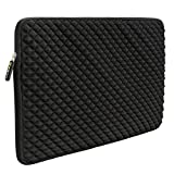 12.9-14 Inch Laptop/Tablet Sleeve Evecase Diamond Foam Splash Shock Resistant Neoprene Sleeve Bag for for Notebook Chromebook, Ultrabook, Macbook Pro/Air 13.3 / iPad Pro 12.9 Tablet - Black