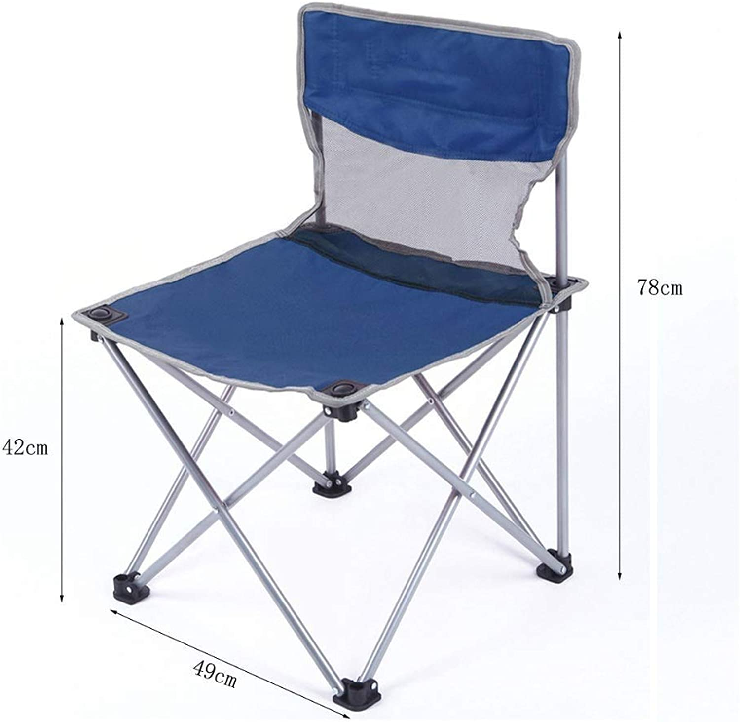 RUIMA Portable Folding Stool for Camping and Sports,3colors (color   Palm bluee) (color   bluee)
