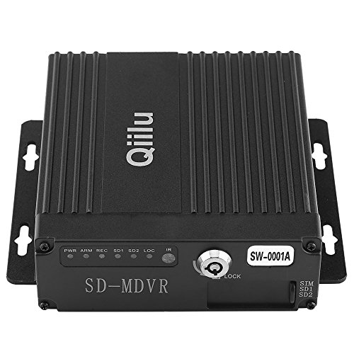 %9 OFF! Qiilu Realtime MINI 4CH Car Mobile DVR Auto Video Recorder Vehicle Camcorder Driving Recorde...