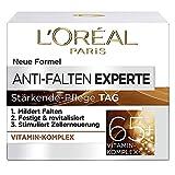 L'Oréal Paris Feuchtigkeitspflege für das Gesicht, Anti-Aging Tagescreme zur Minderung von Falten, Vitamin B3 und Vitamin E, Festigt und revitalisiert die Haut, Anti-Falten Experte, 1 x 50 ml