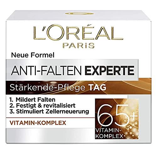 L\'Oréal Paris Feuchtigkeitspflege für das Gesicht, Anti-Aging Tagescreme zur Minderung von Falten, Vitamin B3 und Vitamin E, Festigt und revitalisiert die Haut, Anti-Falten Experte, 1 x 50 ml
