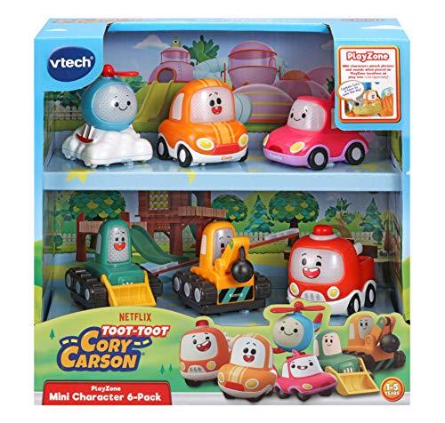 VTech Toot-Toot Drivers Cory Carson Mini-Fahrzeugpack, Spielzeug-Kinderauto-Set für fantasievolles Spielen, Mini-Auto-Sets für Jungen und Mädchen ab 2, 3, 4, 5 Jahren