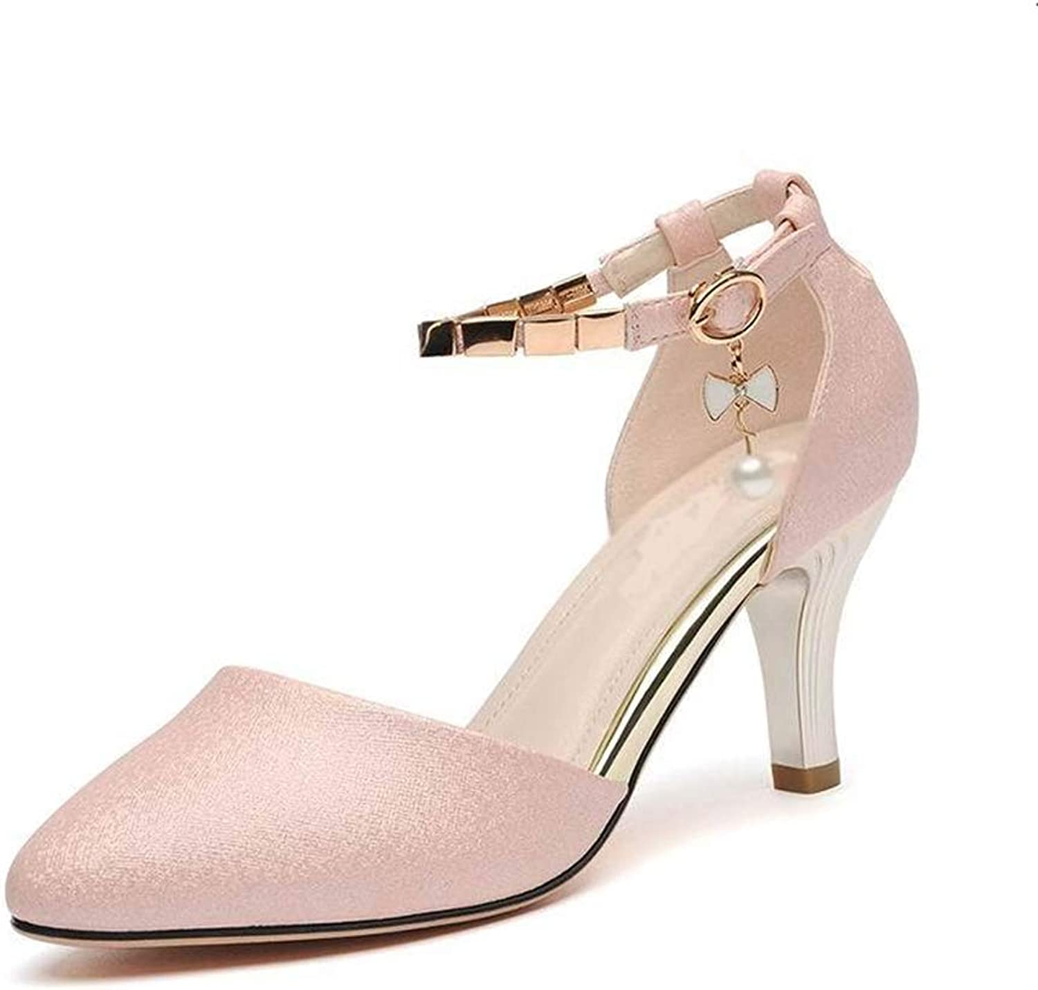 CHENGLing Women's Lace Up Tie Up Chunky Wraped Block High Heel Dress Pump