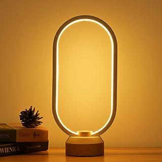 LONRISWAY LED Wood Desk Lamp, Bedroom Bedside Night Light, Dimmable Led Lighting, Creative Home Decor, Unique House warmgi...