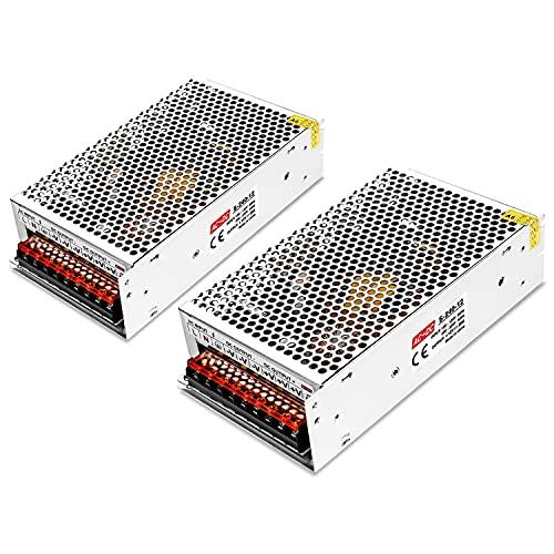 2 unidades 12 V 20 A Convertidor, AC/DC Convertidor de Conmutación Proyecto LED Light Strings, Conmutación Alimentación AC 100V/240V DC 12V Alimentación Transformador 20 A