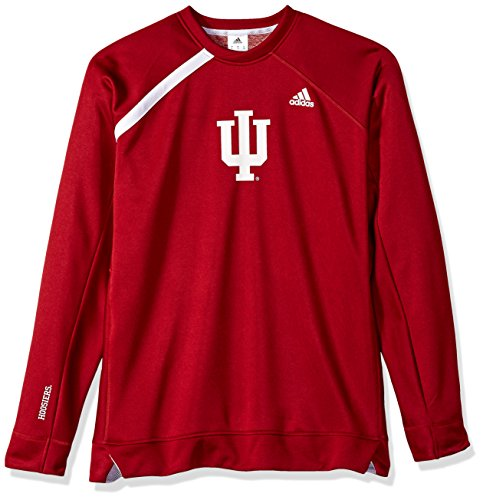 NCAA Indiana Hoosiers Mens On Court L/S Shooting Shirton Court L/S Shooting Shirt, Victory Red, Medium