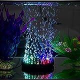 Luz de burbujas para acuario, bomba de burbujas, luces LED, iluminación redonda para acuario, iluminación RGB, iluminación de acuario, iluminación de 7 ledes de cambio de color, piedra de oxígeno