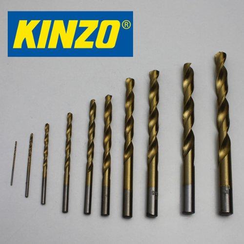Kinzo metaalboorset 10-delig HSS-kwaliteit, 1-10 mm, metalen spiraalboor set (LHS).