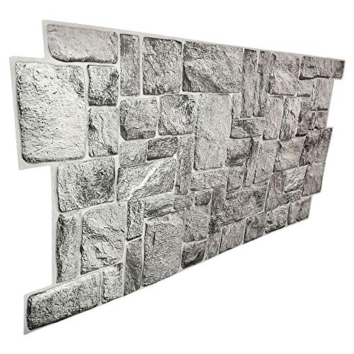 Pannelli parete PVC Finta pietra Effetto 3D - rivestimento parete GREYSTONEE (10)