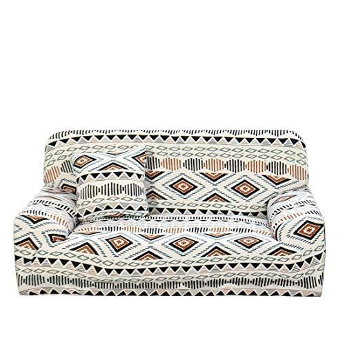 Funda de sofá estampada, funda de sofá de poliéster y elastano, 1 pieza, elegante funda de sofá con funda de cojín gratis sofá XL naranja beige 4 plazas