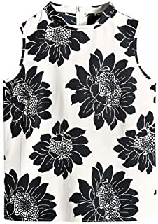 NEW EX CHAINSTORE IVORY LILAC BLACK FLORAL SEQUIN DETAIL TUNIC SIZE 10-20