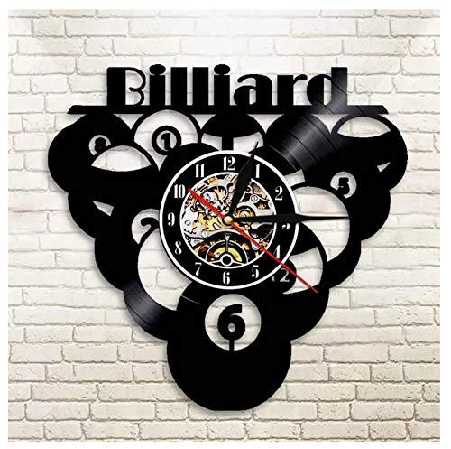 GenericBrands Wall Clock Vinyl Record Billiard ball pool classic Handmade...