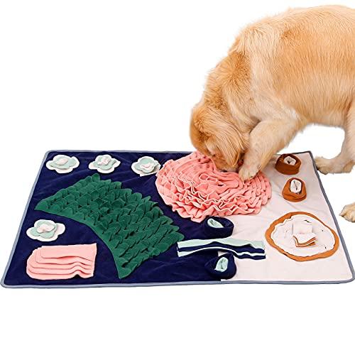 PETTOM Snuffle Mat para Perros Alfombra Olfativa Perros, Grande 104 x 73 cm Snuffle Mat para Perros Alfombrilla para Perros, Alimentación de Mascotas Antideslizantes