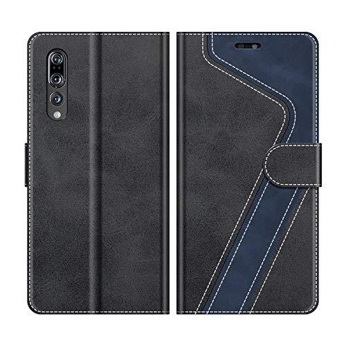 MOBESV Funda para Huawei P20 Pro, Funda Libro Huawei P20 Pro, Funda Móvil Huawei P20 Pro Magnético Carcasa para Huawei P20 Pro Funda con Tapa, Elegante Negro