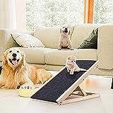 GJCrafts Rampas para Mascotas de Alturas Ajustables Rampa portátil Plegable Rampa de Madera Antideslizante para Mascotas Soporta hasta 110 Libras para Coches, SUV, Cama y sofá