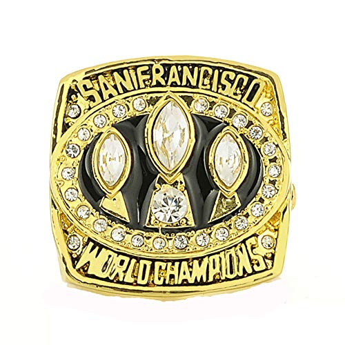 Fei Fei Rugby 1988 San Francisco 49ers Championship Ring Campeonato Anillo para los fanáticos de los Hombres de la colección Regalo de visualización campeón del Recuerdo de réplica,Without Box,11