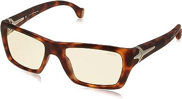 نظارة شمس بعدسات مستطيلة بشنبر منقوش للنساء من بوليس - بيج