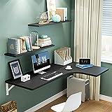 Wjhsp escritorio flotante, mesa de comedor plegable de hoja abatible para espacios pequeños, escritorio de computadora, escritorio convertible, varios tamaños