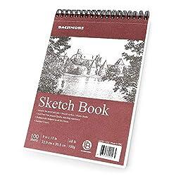 professional Bachmore Sketchbook 9X12 ″ (100 g) 100 sheets 100 sheets TOP Spiral Bound Sketchbook For artists…
