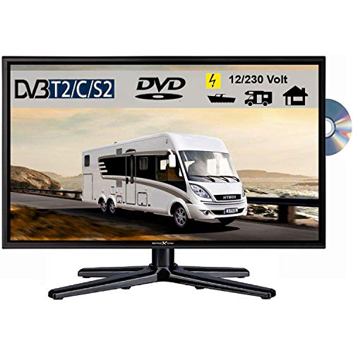 Reflexion LDDW240 LED Fernseher 23.6 Zoll TV DVB-S2 / C / T2 DVD, 12Volt 230 Volt
