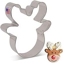 Ann Clark Cookie Cutters Reindeer Head/Face Cookie Cutter by Flour Box Bakery, 3.75