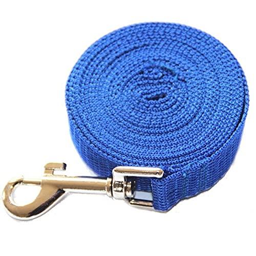 Collares 3M / 6M / 10M / 15M / 20M / 30M / 50M para Perros Grandes Cuerda de Nailon, Correa Larga para Perros, Cuerda de Plomo para Cachorros, Azul, 10m
