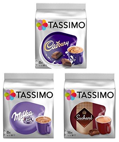 Tassimo Discos en T Pods: paquete de chocolate caliente - lecha, CADBURY, SUCHARD 32 PODS