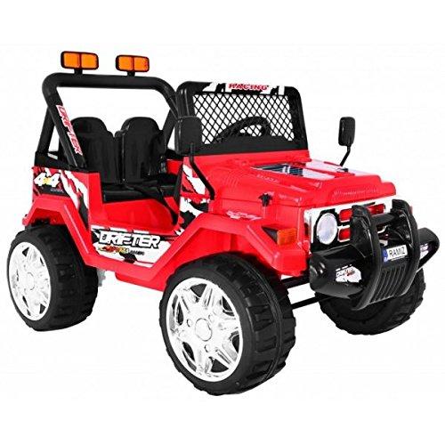Voiture électrique 2 places 12V Jeep Raptor Rouge - Pack Evo