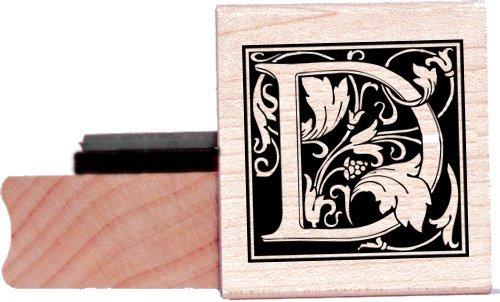 Tampon en caoutchouc alphabet - Lettre D à la William Morris