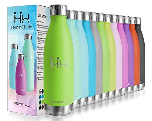 HoneyHolly Vakuum Isolierte Edelstahl Trinkflasche - 350/500/650/750 ml, Ideale Thermosflasche für Kinder, Kleinkinder, Schule, Kindergarten, Sport, Outdoor, Fahrrad, Fitness, Camping