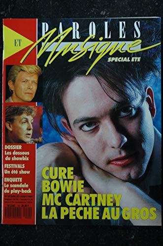 Paroles & Musique n° 20 * 1989 07 * CURE BOWIE Mc CARTNEY Boris VIAN Peter GABRIEL YOUSSOU NDOUR