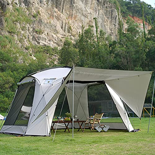 Tienda emergente para 5 – 8 personas, tienda de campaña instantánea, ligera y familiar, para exteriores, camping, senderismo, pesca festival (color : tienda emergente, tamaño: 5)