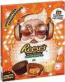 Reeses Adventskalender 2020   Reese's Pieces peanut butter Erdnussbutter-Miniaturen, Advent aus weißer Schokolade, dunkler Schokolade und Milchschokolade, 248 g