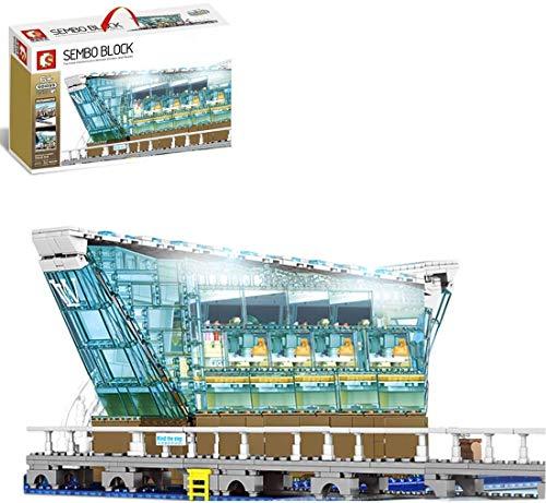 JIALI City LV Bloques de construcción Bloques Modelo con iluminación y 12 Minifiguras, Compatible con PC de LEGO-2531