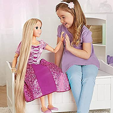Disney Princess Rapunzel Doll 32″ Playdate, My Size Articulated Doll, Comes with Brush to Comb Her Long Golden Locks, Movie Inspired Purple Dress, Removable Shoes & A Tiara